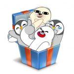 Стикеры Зимние друзья ВКонтакте