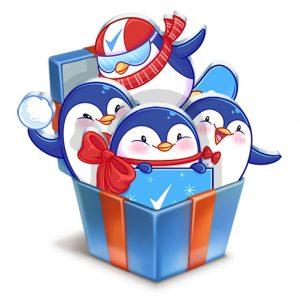 Бесплатные стикеры «Пингвиненок Пинни» от «Rexona»