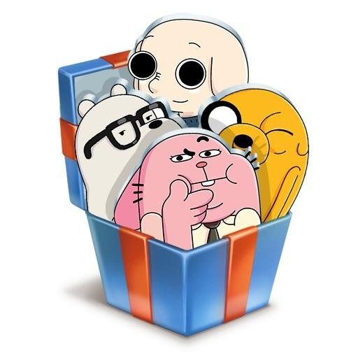 QR коды на бесплатные стикеры от Cartoon Network Россия